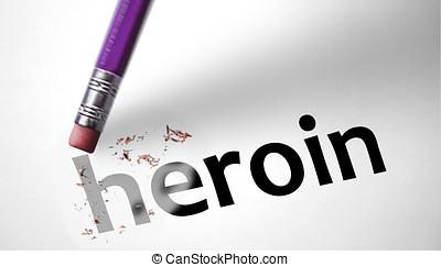 borrador, Eliminar, palabra, heroína