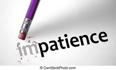 borrador, Cambiar, palabra, impaciencia, paciencia