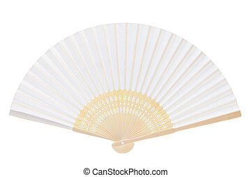 folding fan isolated on a white background