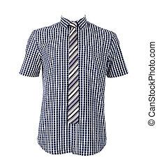 Blue shirt isolated on white background - Blue shirt...