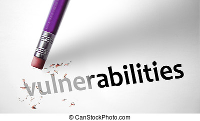 Eraser deleting the word Vulnerabilities