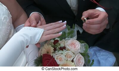 Put On Ring, Wedding - Wedding Couple