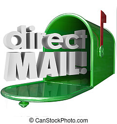 Direct Mail Words Mailbox Advertising Marketing...
