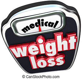 Medical Weight Loss Scale Words Help Assistance Supervised...