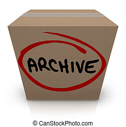 Archive Cardboard Box Record File Storage Packed Up Put Away...
