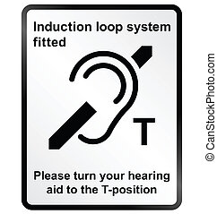 Induction Loop Facility Information - Monochrome induction...