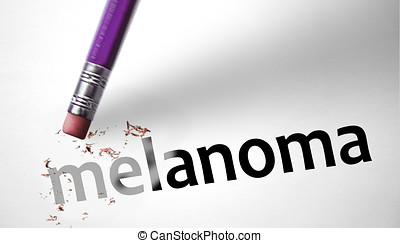 borrador, Eliminar, palabra, melanoma