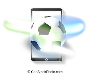 Soccer phone Creative Design