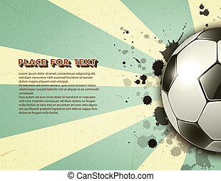 soccer ball on grunge vintage background - soccer ball on...