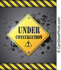 under construction sign eps10