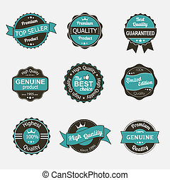 Collection of premium quality vintage labels