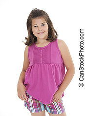 Caucasian Kids - Portrait of a cute eight year old girl