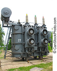 High voltage industrial converter at a power plant