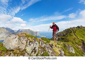 Hike in Lofoten - hike in Lofoten,Norway