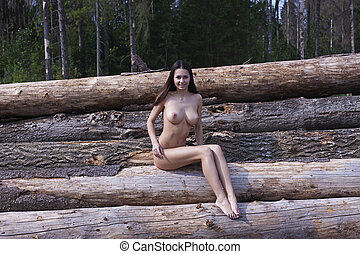 Naked girl with big tits