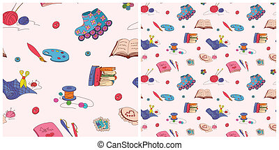 Hobby seamless pattern - Vector seamless pattern with hobby...
