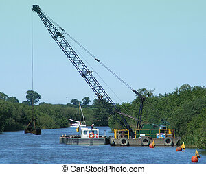 Dredging Machine 1 - Dredging Machine at work on the broads