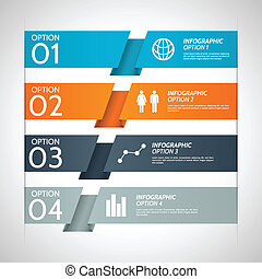 Colorful Paper Infographic Option B - Folded colorful paper...