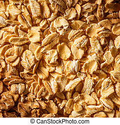 Dry oats cereal as background