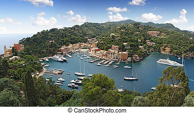 Portofino village, near Rapallo Genova, Ligurian Coast,...