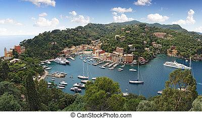Portofino village, near Rapallo Genova, Ligurian Coast,...