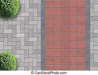 gardening exterior from above - exterior detail in aerial...