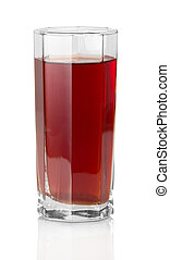 The glass of grape juice isolated on white