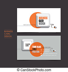 vector business card set with keyboard