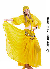 attractive woman in traditional costume gypsy
