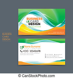 professional vector business card set template design with...