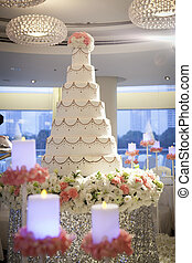 Wedding cake in wedding cerebration