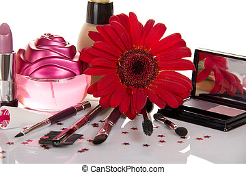 美しい, 装飾用である, 花, 化粧品