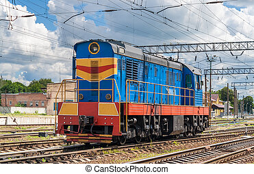 Shunter on a ukrainian station