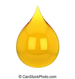 Oil drop 3d illustration isolated on white background