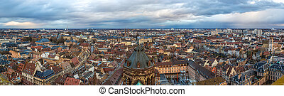 View of Strasbourg from a roof of the cathedral