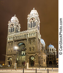 Sainte-Marie-Majeure Cathedral of Marseille - France -...