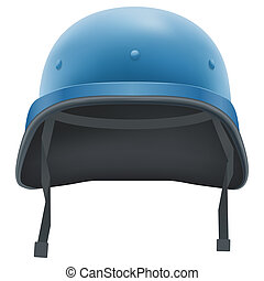Military helmet of United Nations. Isolated on white background. Bitmap copy.