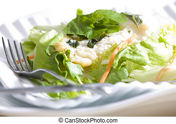halibut fillet with mint