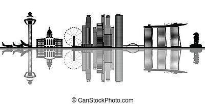 singapore, skyline,