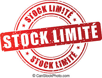 Vector limited stock stamp - Vector illustration of limited...