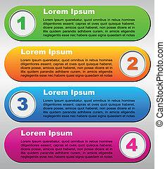 four steps background - Vector illustration of four steps...