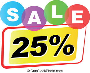 Vector twenty five percent sale icon - Vector illustration...