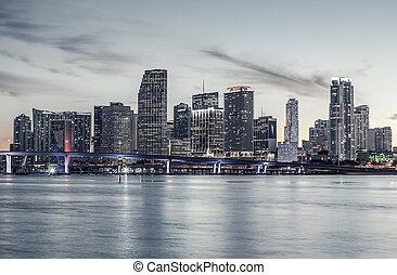 Famous cIty of Miami, special photographic processing -...