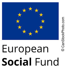 European Social Fund - standard and proprtional sign with EU...