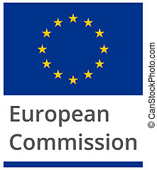 European Commission standard proportional sign - flat design...