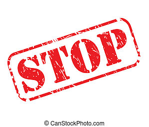 STOP red stamp text on white