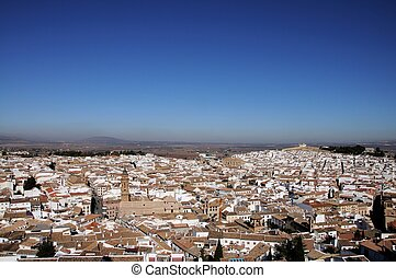 Town rooftops, Antequera. - View over the city rooftops with...