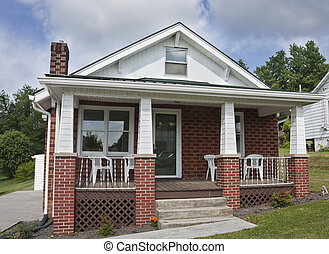 Brick house with porch