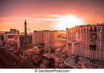 Vegas Sunrise - Desert sunrise of The Strip in Las Vegas...