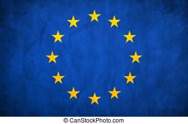 european union flag -...